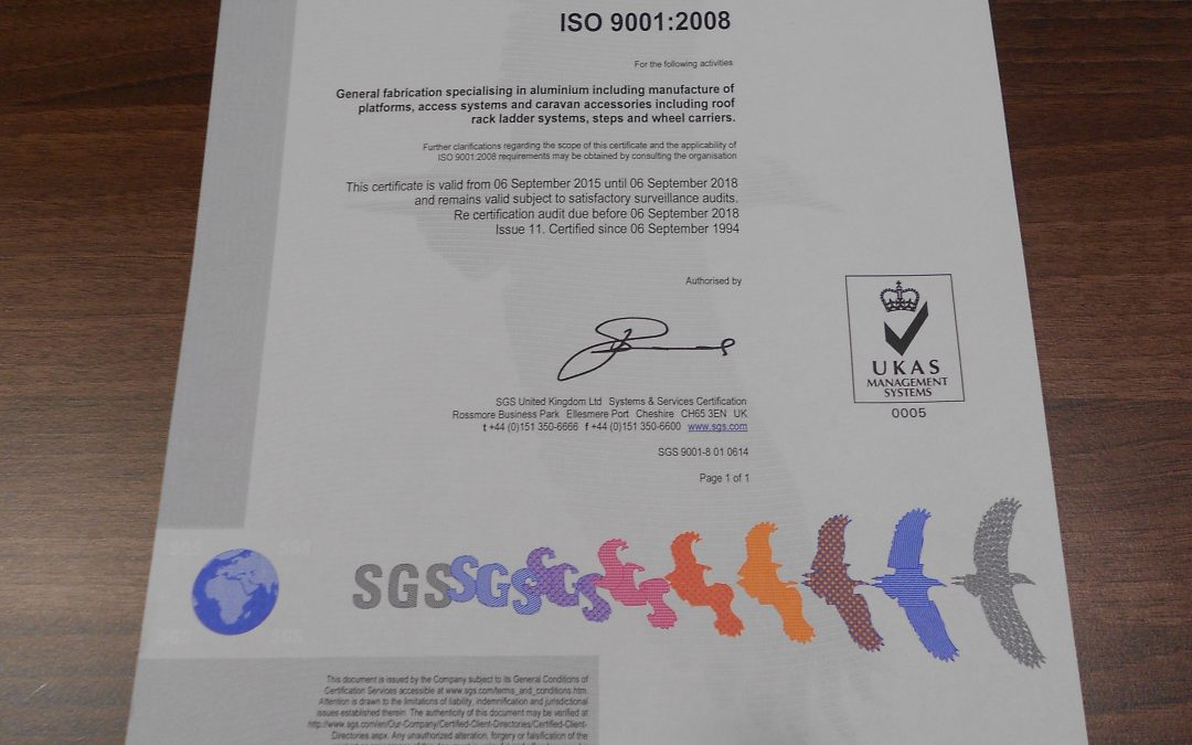 ISO 9001:2008 achieved again with flying colours